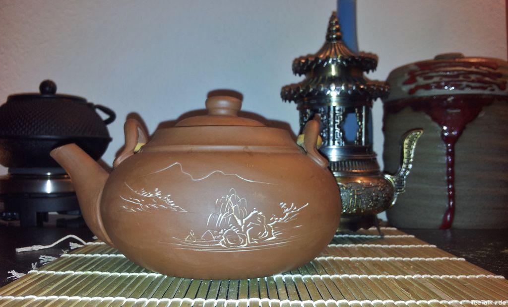Meine alte Ton Teekanne Mit Gravur (800ml)