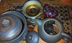 Mein Shou Testset mit Yixing Ton Teekanne 150 ml -Yang-  und Jianshui Gaiwan