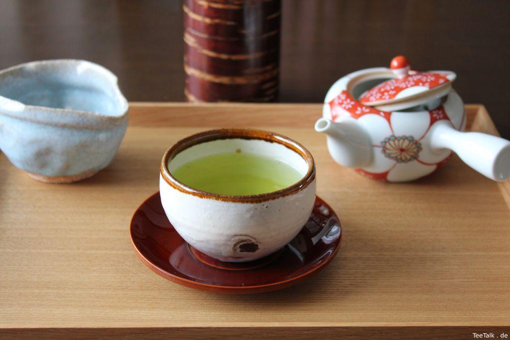 Shincha Hōshun × 3 verschiedene Keramiktypen