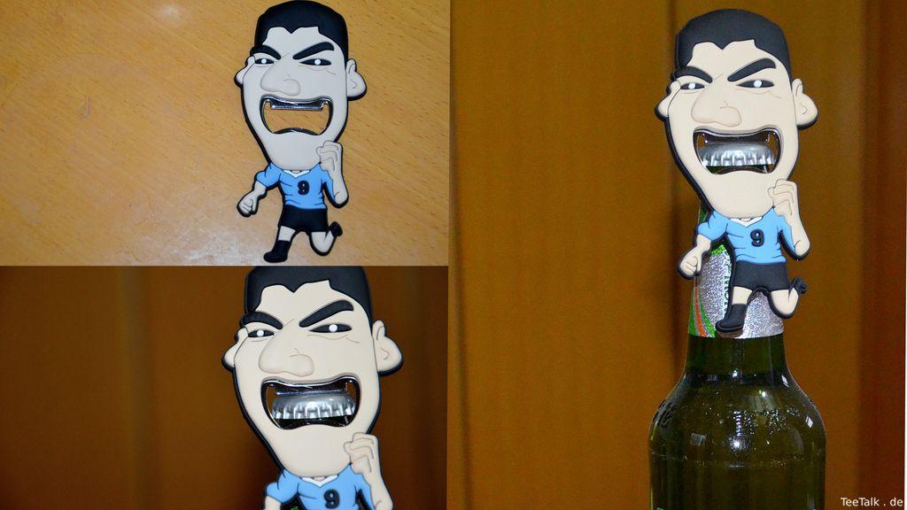 Mein neuer Flaschenöffner inspiriert von Beißer Luis Suárez