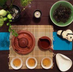 Gong Fu Cha Setting mit Fluß