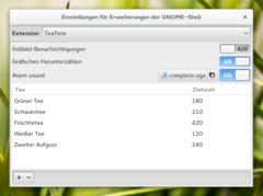 TeaTime für GNOME Shell 3
