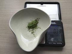 Matcha-Gewicht von leicht gehäuftem Chashaku