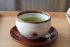 Sencha-Schale im kohiki-stil von Junichi Tōgami