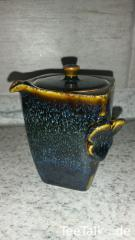 Blue Hare's Fur Square Houhin Teapot.jpg