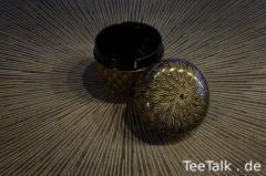 Natsume mit Bambus-Motiv (mittels Chinkin)