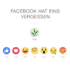 "Facebook ""Like""-Buttons mit Tee"