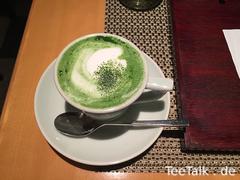 Matcha Cappuccino bei Fukujuen