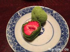 Matcha-Erdbeeren von Itohkyuemon