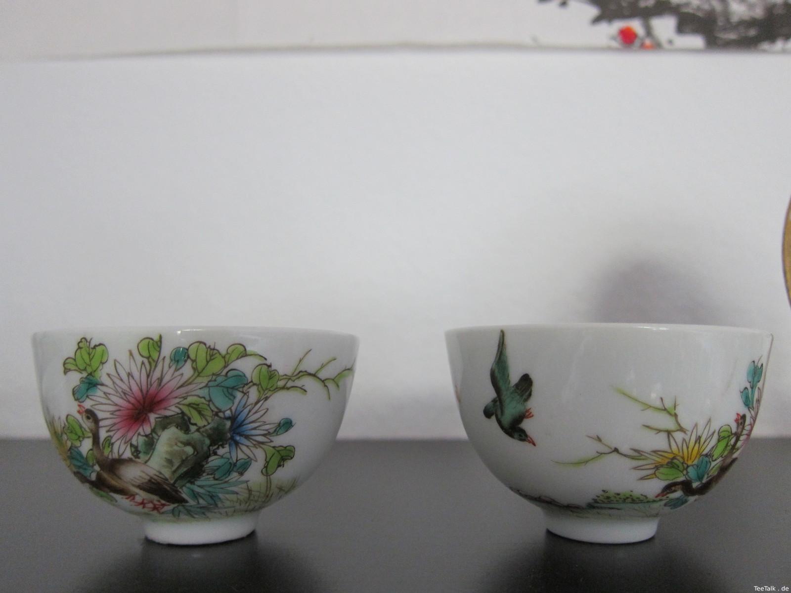 Teeschalen mit Motiven
