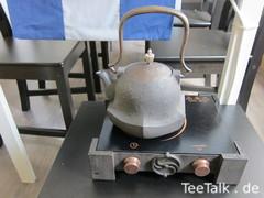 Wasserkocher und Teekanne/Eisenkanne