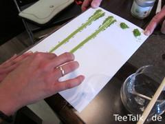 Matcha Fingerstreifen-Qualitäts-Test