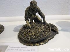 Teefigur - Trocknen oder Welken der Teeblätter