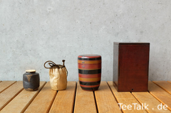 Chaire mit Shifuku & Verpackungen (Momoyama / frühe Edo-Zeit)