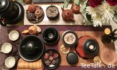 Schwarzes Steinzeug Gong Fu Cha Setting