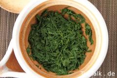 Hinpyōkai Sencha nasse Blätter (Yame Miryokuen Seicha)