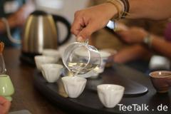 Vorwärmen der Tassen